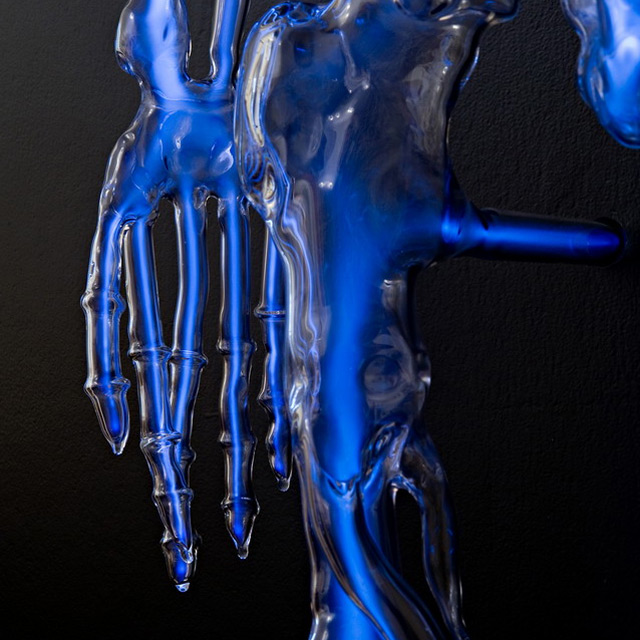 Embodiment: A Neon Skeleton by Eric Franklin neon lighting glass art anatomy