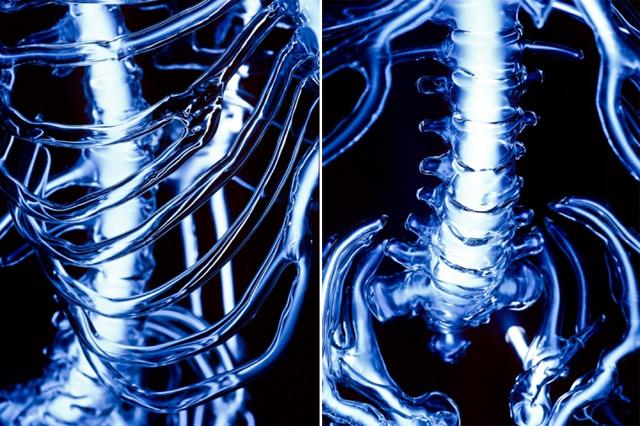 Embodiment: A Neon Skeleton by Eric Franklin neon lighting glass art anatomy