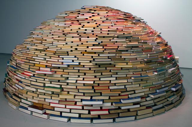 Book Igloo sculpture installation books art