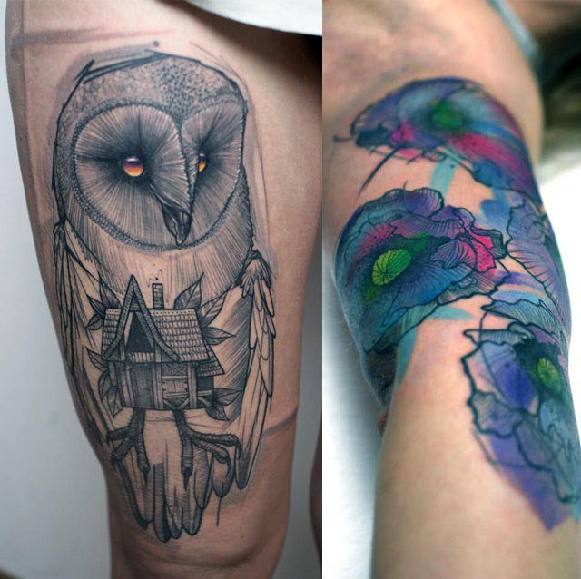 Tattoos by Peter Aurisch tattoos illustration art