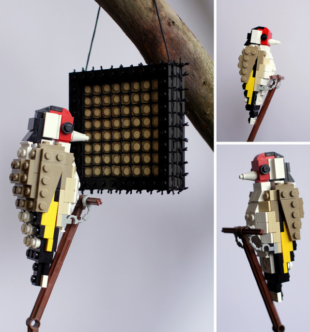 British Birds Made of LEGO Lego design birds