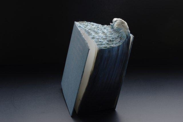 New Carved Book Landscapes by Guy Laramée sculpture paper books