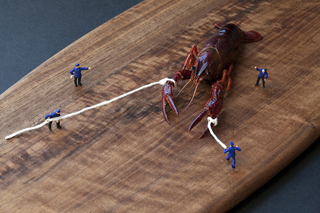 Big Appetites: Miniature People Living in a World of Giant Food by Christopher Boffoli miniature food