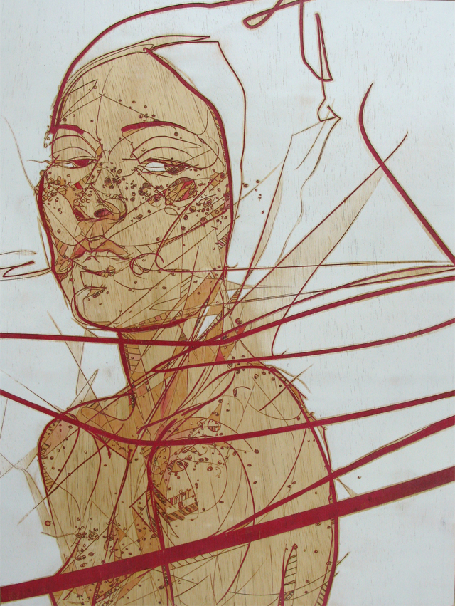 New Laser Etchings by Jason Thielke portraits illustration etching