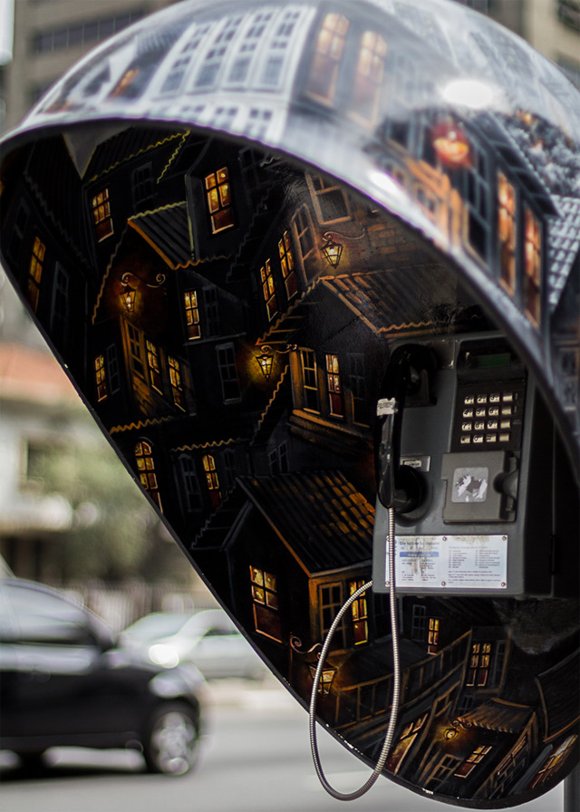 Call Parade: 100 Phone Booths Given to 100 Artists on the Streets of São Paulo street art Brazil