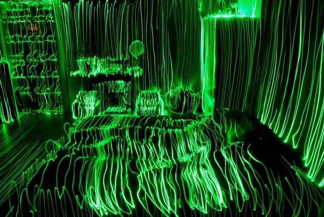 Topographical Light Paintings long exposure light
