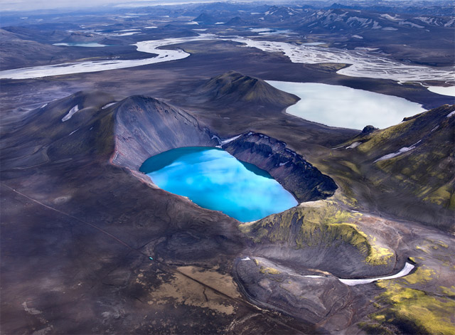 Aerial Photographs of Volcanic Iceland by Andre Ermolaev landscapes Iceland