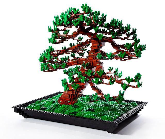 Lego Bonsai Tree by Makoto Azuma trees sculpture Lego