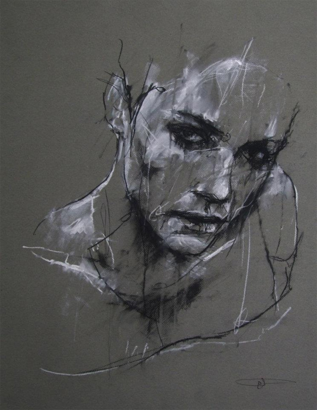 The Daily Sketches of Guy Denning portraits drawing