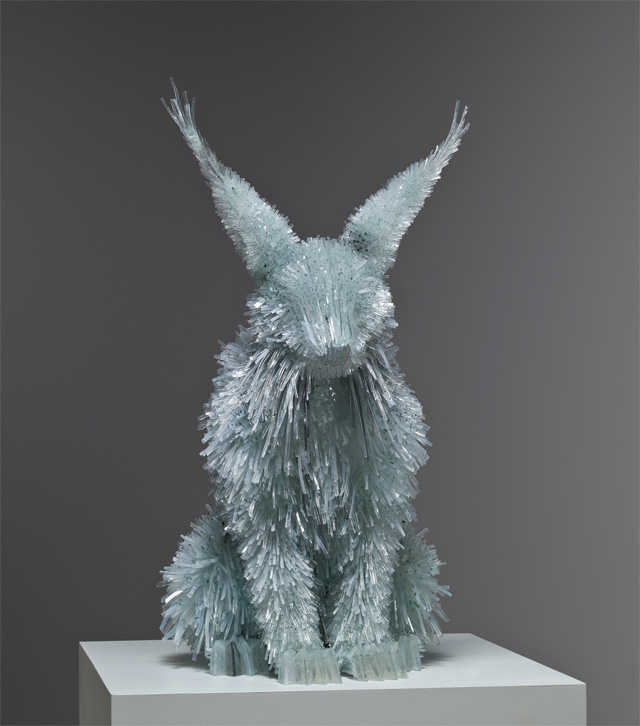 Shattered Glass Animals by Marta Klonowska sculpture glass animals
