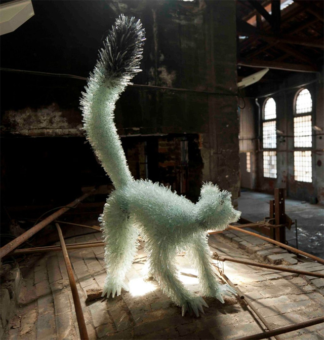 Shattered Glass Animals by Marta Klonowska sculpture glass animals