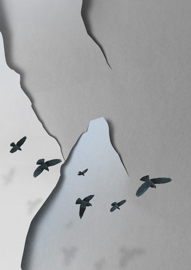 Paper Landscape Illustrated by Eiko Ojala paper landscapes illustration