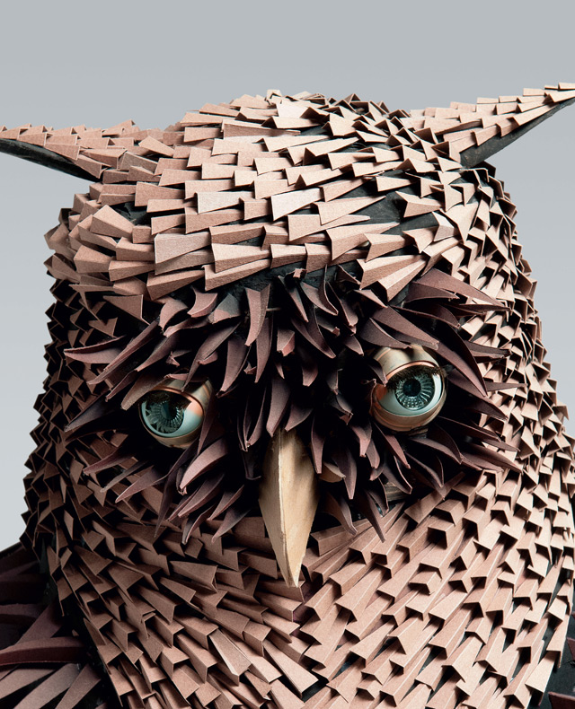 Irving Harper: Works in Paper sculpture paper books animals