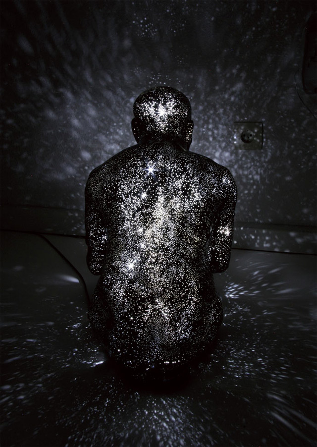 Light After Death: Mihoko Ogakis Milky Way Figures Project Stars from Within stars sculpture rebirth light death
