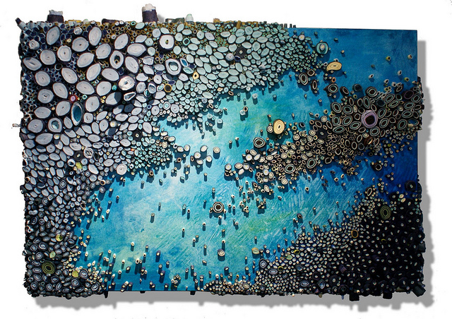 New Underwater Reefs and Landscapes Made of Paper by Amy Eisenfeld Genser sculpture paper ocean coral