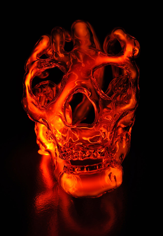 New Neon Skull Lights by Eric Franklin neon light glass anatomy