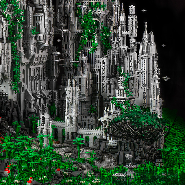 Contact 1: A 200,000 Piece Sci Fi LEGO Masterwork by Mike Doyle science fiction Lego