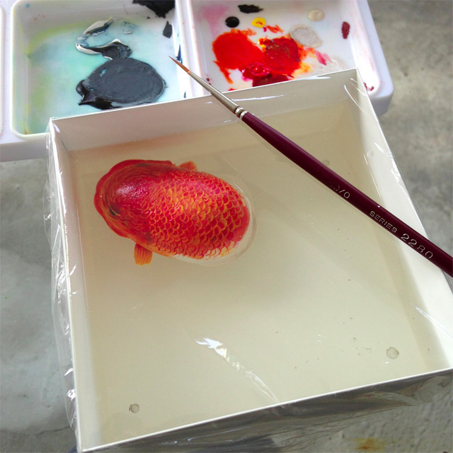 Three Dimensional Resin Paintings by Keng Lye