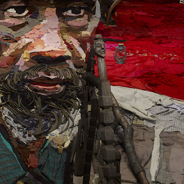 This Anamorphic Portrait by Bernard Pras is an Entire Room Full of Objects portraits assemblage anamorphism