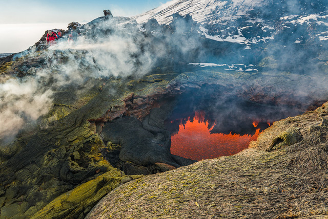 Journey to the Center of the Earth: An Incredible Glimpse Inside an Active Volcano volcanoes lava landscapes