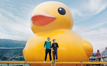 The Worlds Largest Rubber Duck Arrives in Hong Kong sculpture Hong Kong ducks