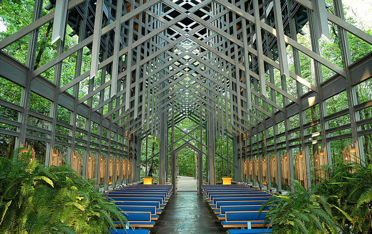 The Thorncrown Chapel, an Idyllic Glass Chapel in Rural Arkansas is Under Threat environment churches Arkansas architecture