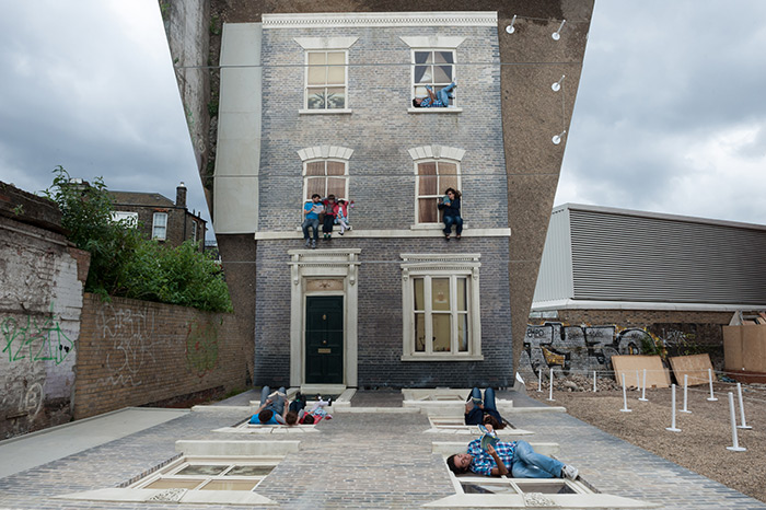 Leandro Erlichs Reflective Optical Illusion House Now in London mirrors installation illusion