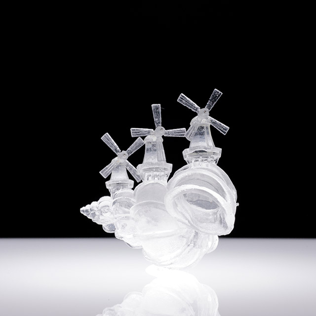 Translucent Hermit Shell Crabs Adorned with Architectural Cityscapes by Aki Inomata sculpture crabs architecture