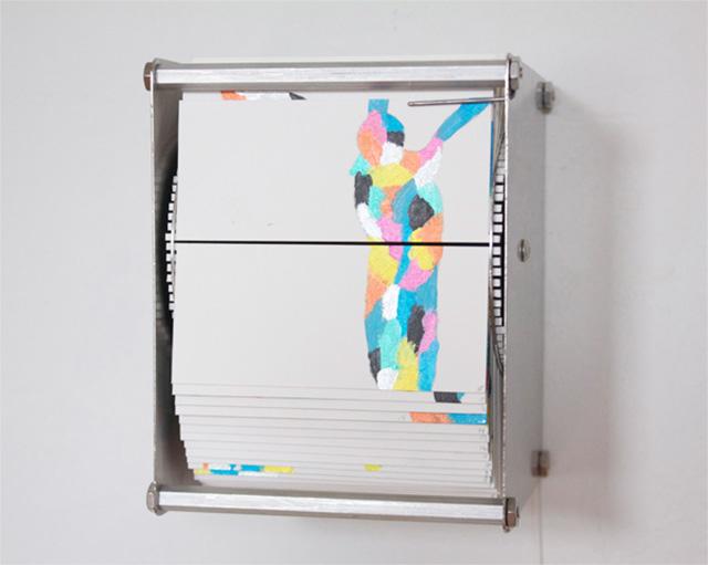 Bird Flipbook Machines by Juan Fontanive kinetic sculpture flipbook birds