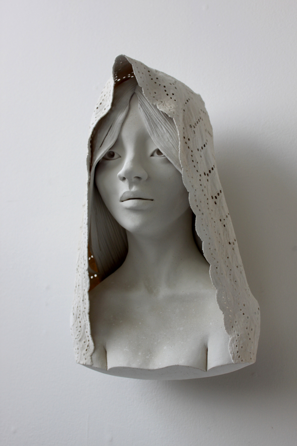 Delicately Sculpted Busts by Gosia sculpture ceramics
