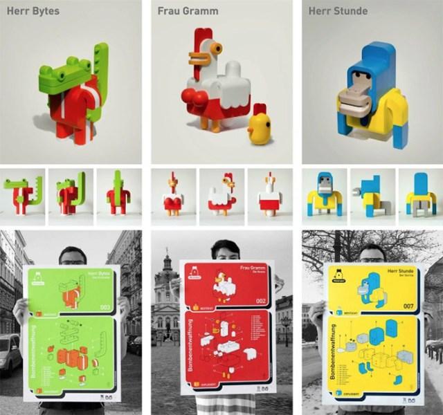 Minimals: Modular Toy Animals by Sebastián Burga toys animals