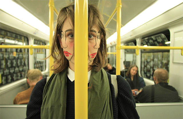 Doublefaced: Sebastian Bieniek Creates Unsettling Two Faced Portraits with Makeup portraits humor