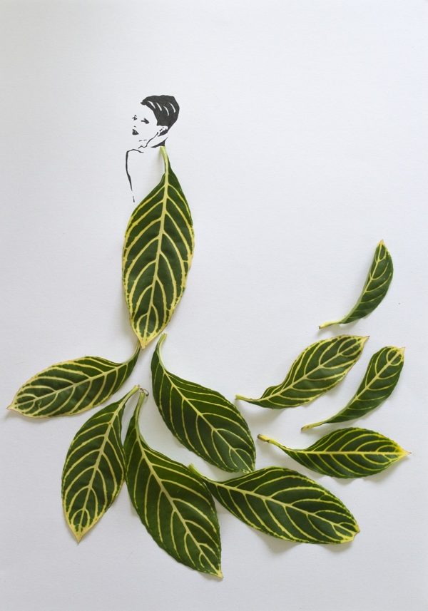 Fashion in Leaves by Tang Chiew Ling plants leaves fashion