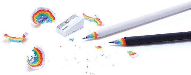 Rainbow Pencils Made of Recycled Paper  rainbows pencils paper drawing