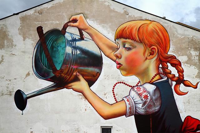 The Legend of Giants: A New Mural by Natalia Rak street art