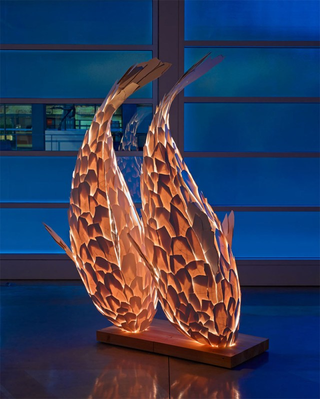 Fish Lamps by Frank Gehry sculpture light fish