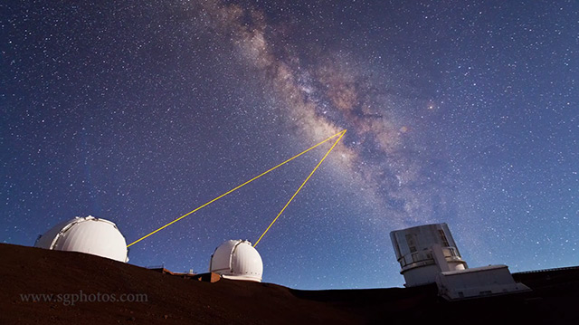 Mauna Kea Heavens Timelapse or Three Minutes of Telescopes Shooting Lasers into Space timelapse telescopes space Hawaii