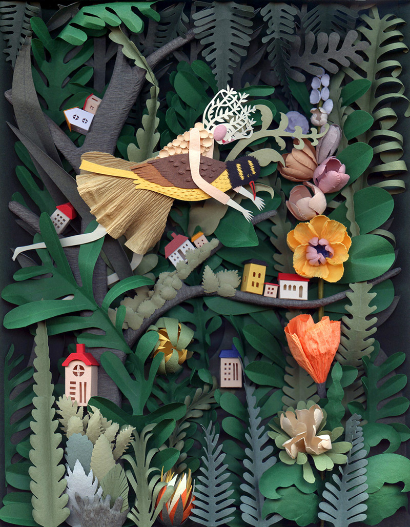 Corte Esculturas e Ilustrações de papel por Elsa Mora escultura ilustração papel