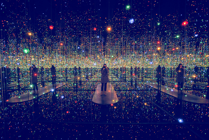 Take a Vertigo Inducing Walk into the Infinite Inside Yayoi Kusama's Infinity Rooms at David Zwirner in New York installation