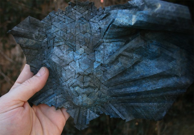 New Tessellated Origami Masks by Joel Cooper paper origami masks