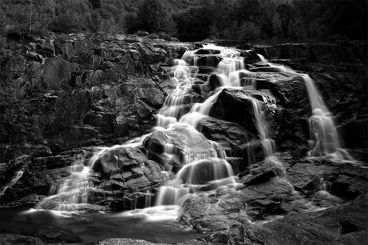 Stark Black And White Photographs Of Waterfalls By Massimo