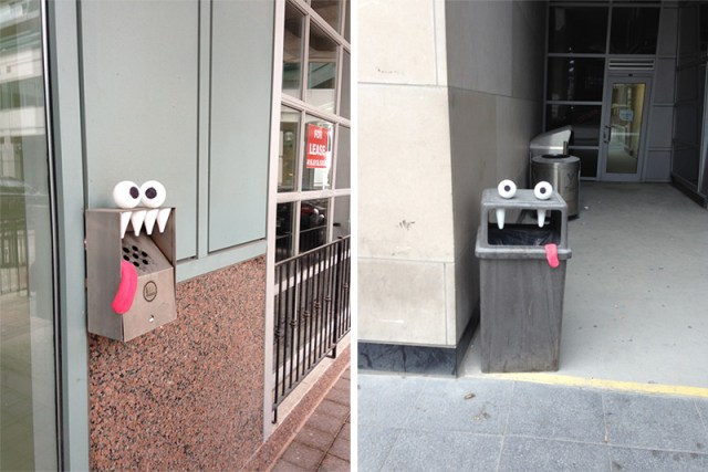 Toon Bombing: A Toronto Artist Turns Outdoor Objects into Googly Eyed Faces Toronto street art humor faces