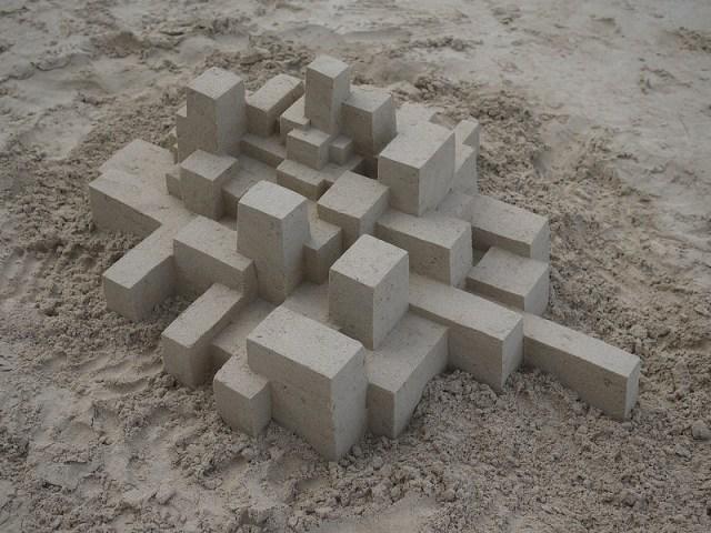 New Geometric Sandcastles from Calvin Seibert sculpture sand geometric