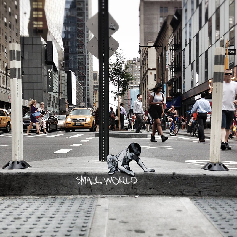 The Wild Adventures of Joe Iuratos Tiny Wooden Figures wood street art