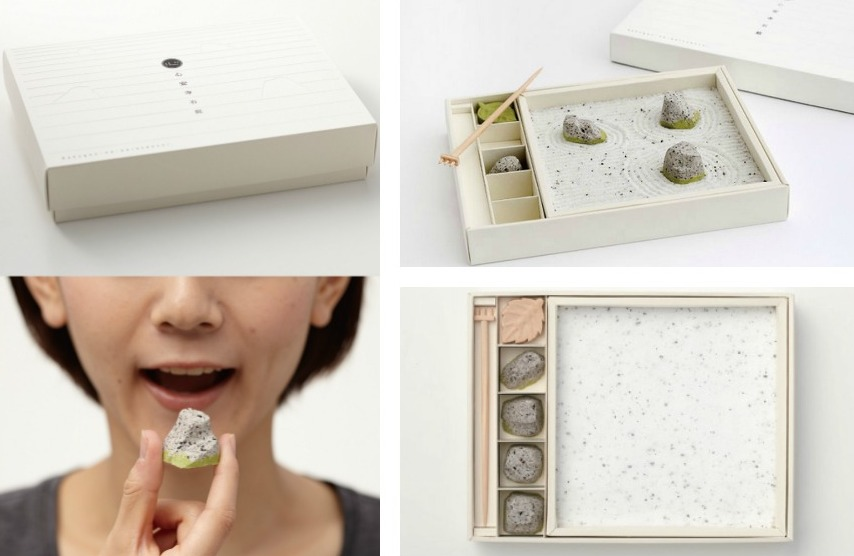 An Edible Zen Rock Garden Made From Japanese Sweets zen rocks Japan gardening food candy