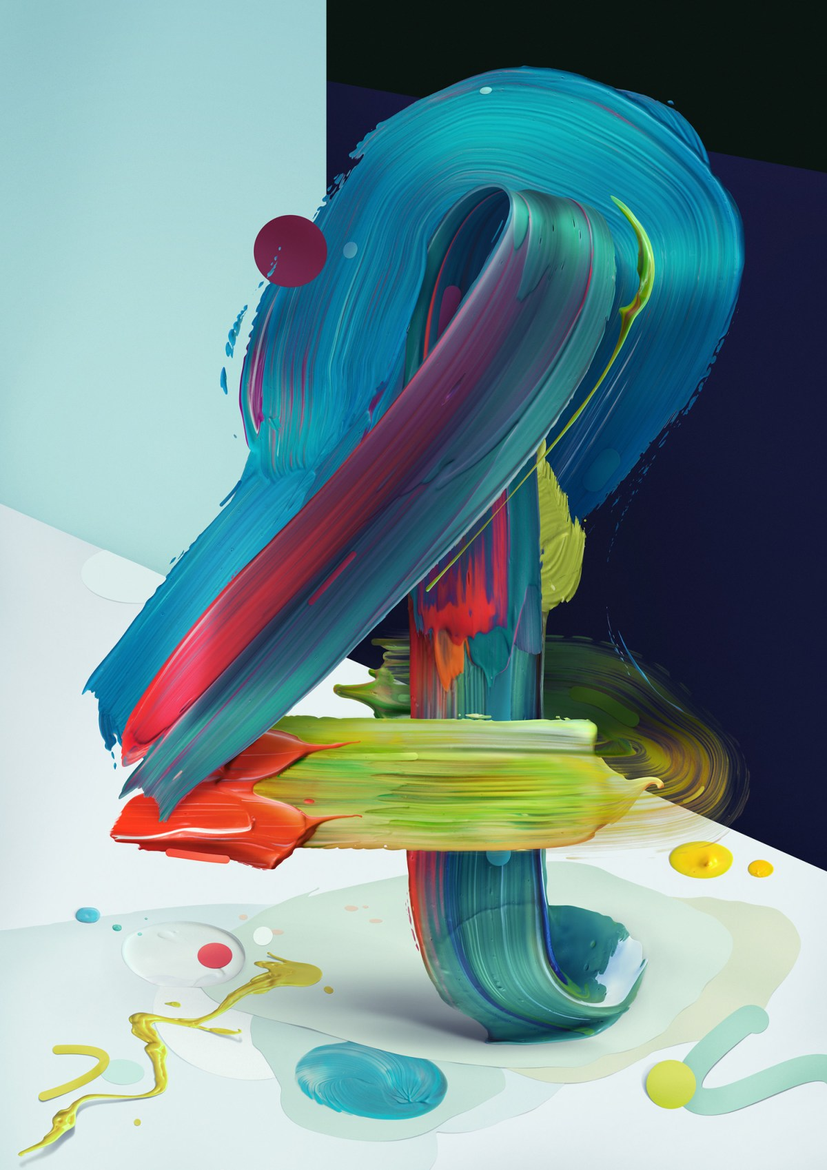 Painted Typography by Pawel Nolbert typography posters and prints paint illustration digital