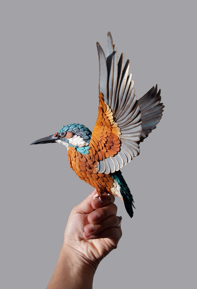 New Lifelike Paper Birds by Diana Beltran Herrera sculpture paper birds