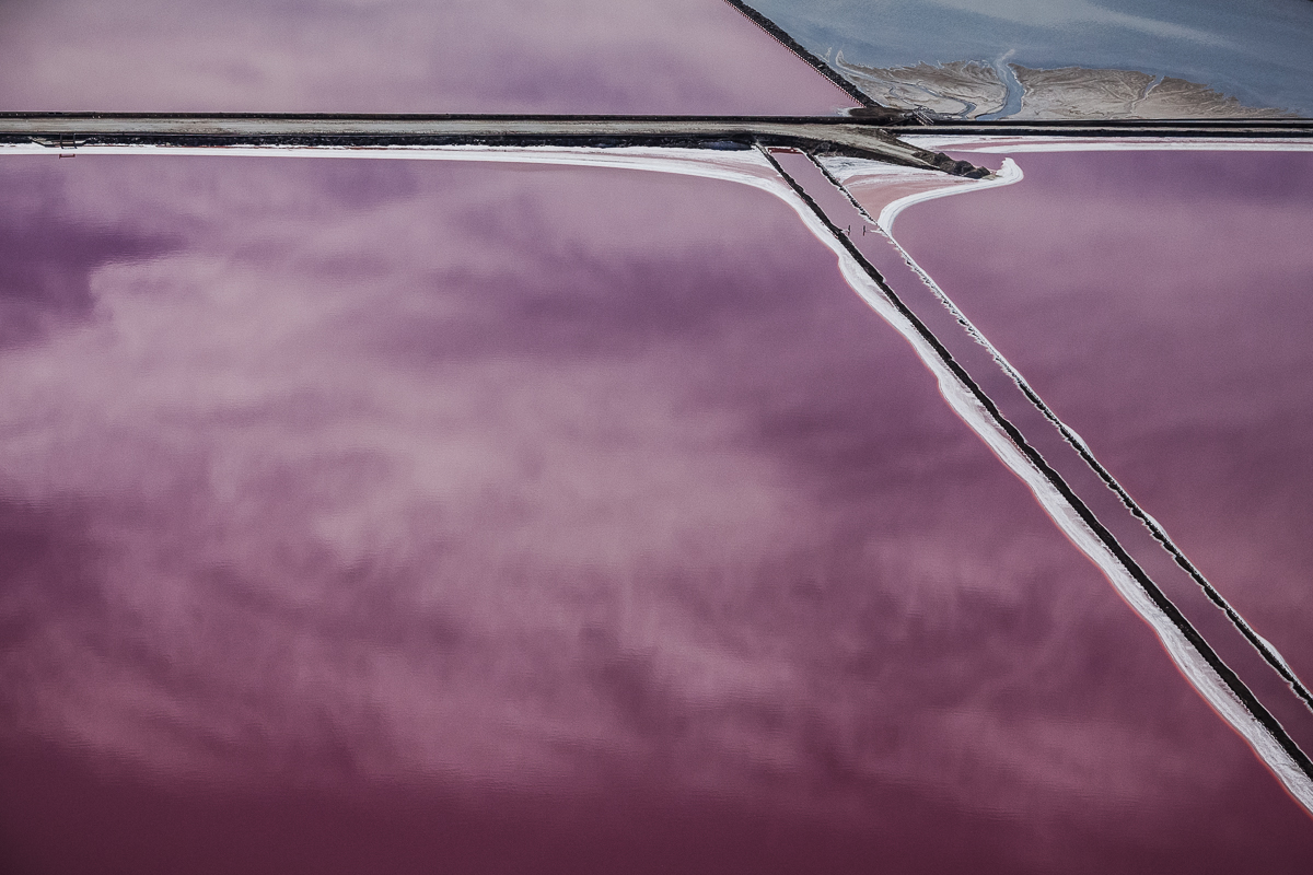 Purple Views of the San Francisco Bay Salt Ponds by Julieanne Kost San Francisco salt landscapes color aerial