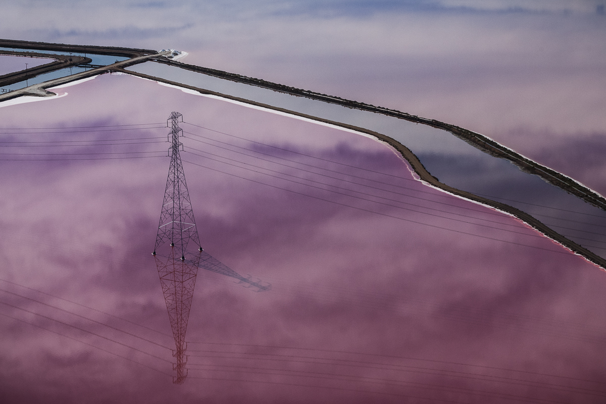 Purple Views of the San Francisco Bay Salt Ponds by Julieanne Kost San Francisco salt landscapes color aerial