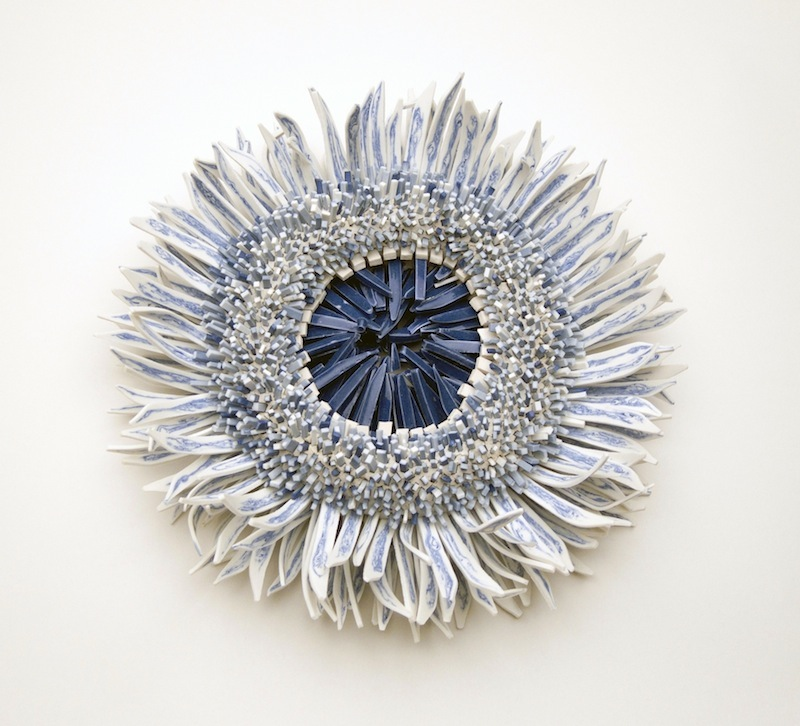 Forms of Nature Created from Thousands of Ceramic Shards by Zemer Peled sculpture multiples ceramics